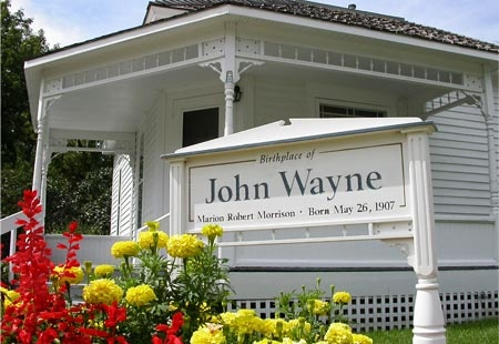John Wayne's birthplace. Visit his childhood home, now a museum in Winterset, Iowa