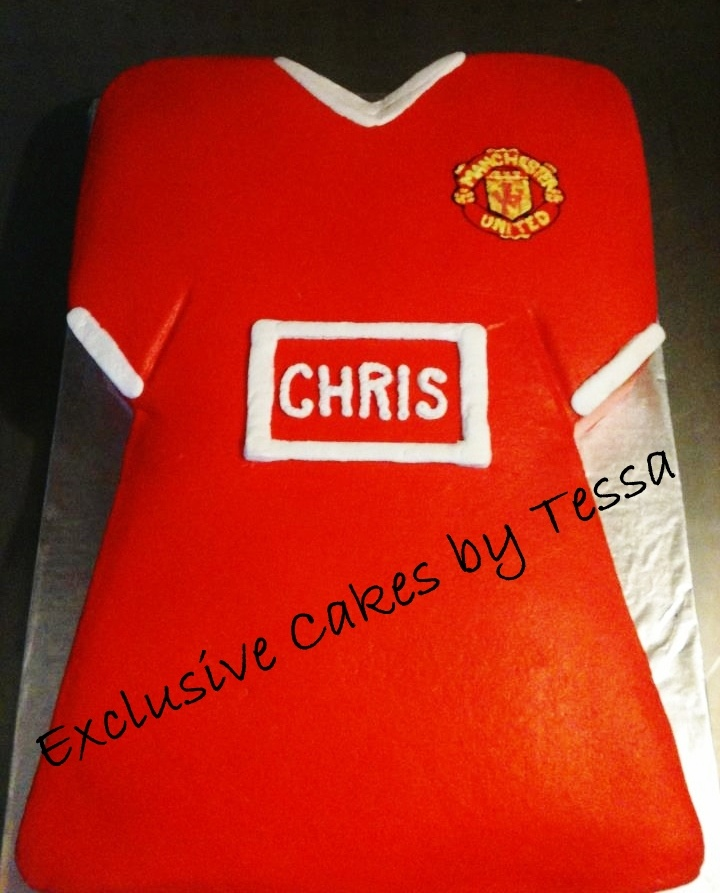 Manchester United Shirt Cake Buttercream By Exclusive