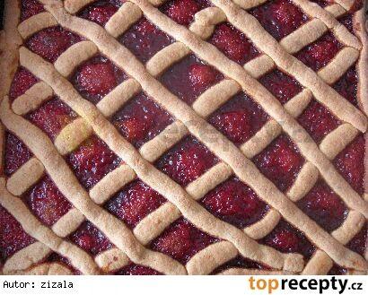 Oškvarkový mriežkový koláč/ Škvarkový mřížkový koláč