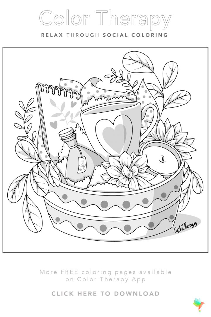 Color Therapy Gift Of The Day Free Coloring Template Horse Coloring Pages Coloring Book Art Color Therapy