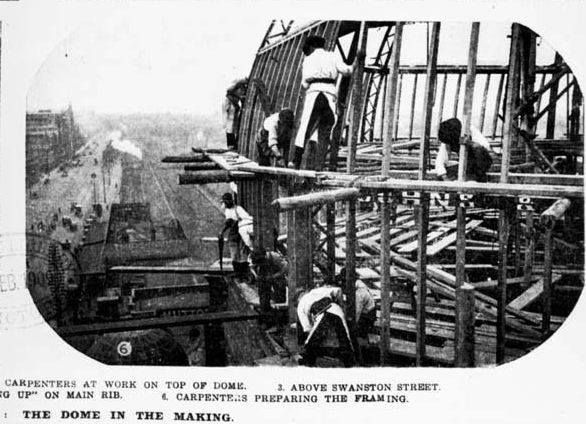 Construction of Flinders Street Station 3/3.