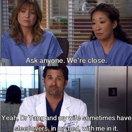 meredith, christina and derek