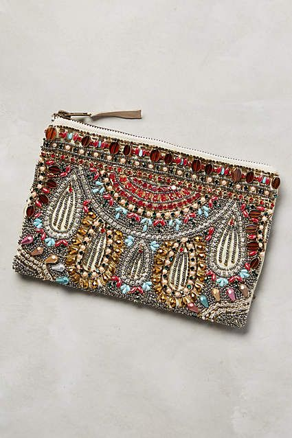 earphones price Chandelier Beaded Pouch   anthropologie com