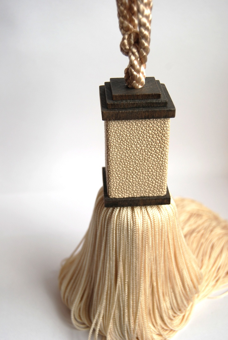 Faux shagreen tassel tieback- available from Mds Designs, www.mdsdesigns.co.uk