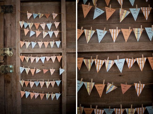 Pennant place cards