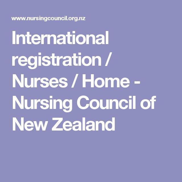 International registration / Nurses / Home - Nursing Council of New Zealand