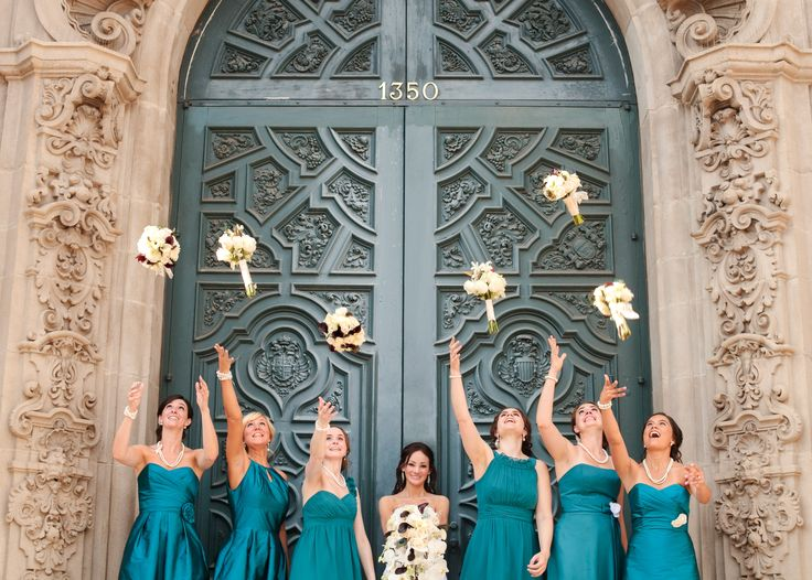 Bridal Party Bouquet Tossing