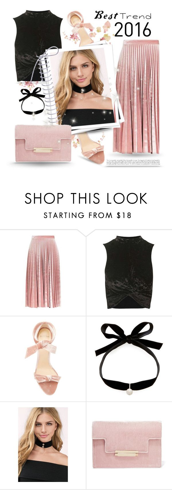 """Velvet"" by chicpeacelove ❤ liked on Polyvore featuring Topshop, Alexandre Birman, Mateo, Tobi, GALA, AERIN and besttrend2016"