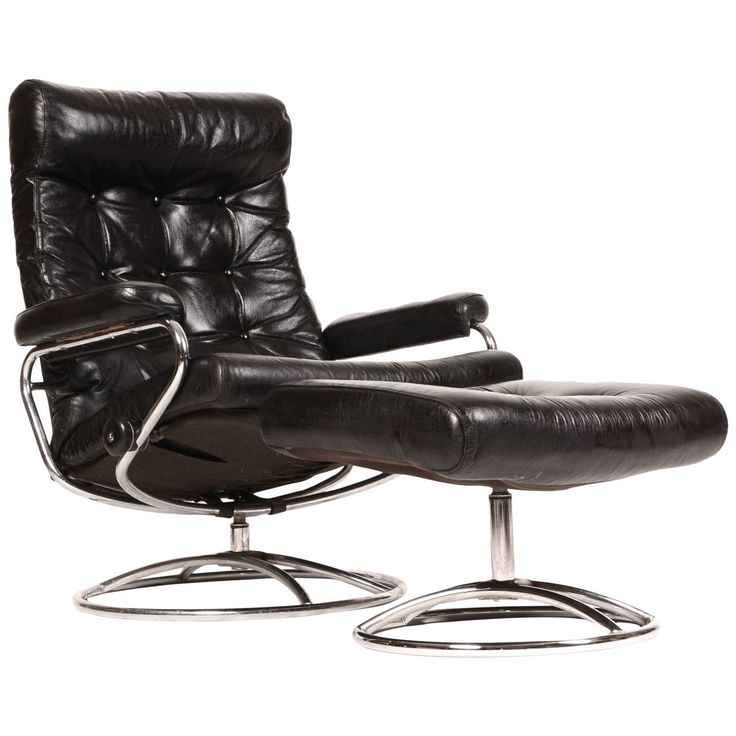 Reclining Stressless Lounge Chair and Ottoman by Ekornes  sc 1 st  Pinterest & 12 best Vintage Ekornes images on Pinterest | Mid century ... islam-shia.org