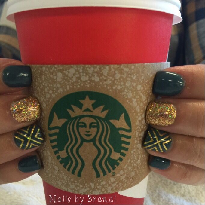 Plaid. Fall. Starbucks. Nails. Perfection. Love my Nails by Brandi!