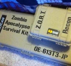 Customized writing paper zombie