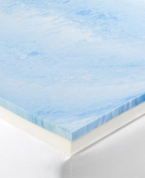 "http://rubies.work/0368-sapphire-ring/ Dusk & Dawn 4"" Gel-Infused Memory Foam King Mattress Topper - White"