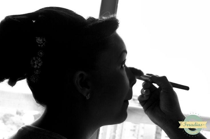 Preparación de Mariana antes de la boda