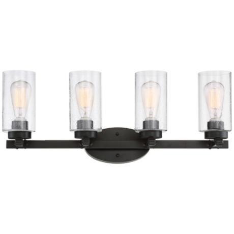 "Holman Bronze 4-Light 27 1/4"" Wide Industrial Bath Light - #9K287 | Lamps Plus"