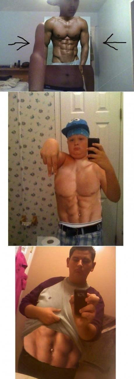 Photoshop Fails. Are these guys serious? Wtf, especially the first one... obviously has no clue how his own anatomy works lmfao.