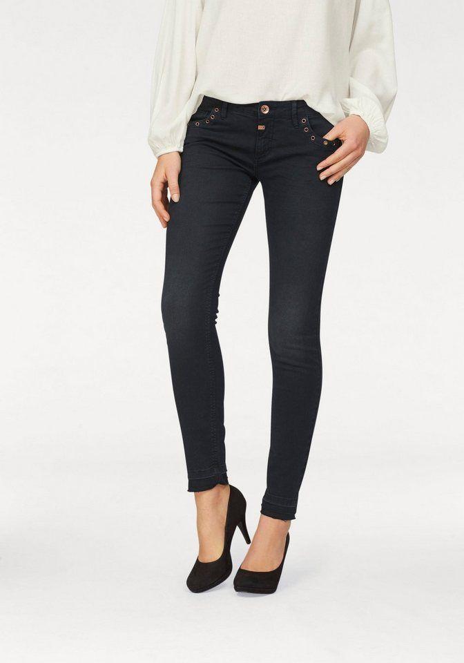 TIMEZONE Slim-fit-Jeans Aleena mit Ösen am Tascheneingriff   Time ... f2ccd6e9ee