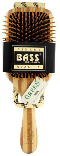 Bass The Green Brush 100% Pure Bamboo Paddle Brush -- 1 Brush - Vitacost