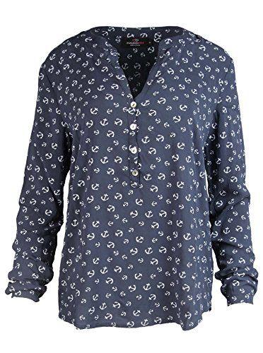 7bf1318d38be Zwillingsherz Bluse Damen mit Anker - Sommer Oberteile - Hochwertige Schöne  und luftige Tunika Chiffon Blusen für Frauen - Elegantes Langarm…