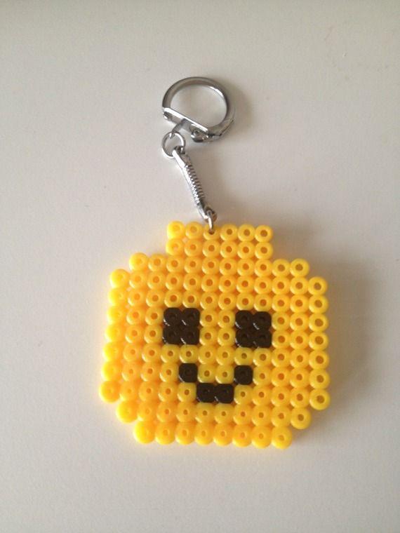 Porte cl s perle repasser t te de lego lego - Porte cle perle ...
