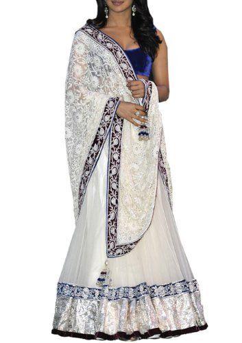 Priyanka Chopra White Net Lehenga with Dupatta LMMSBF31, http://www.junglee.com/dp/B00B32QDSW/ref=cm_sw_cl_pt_dp_B00B32QDSW