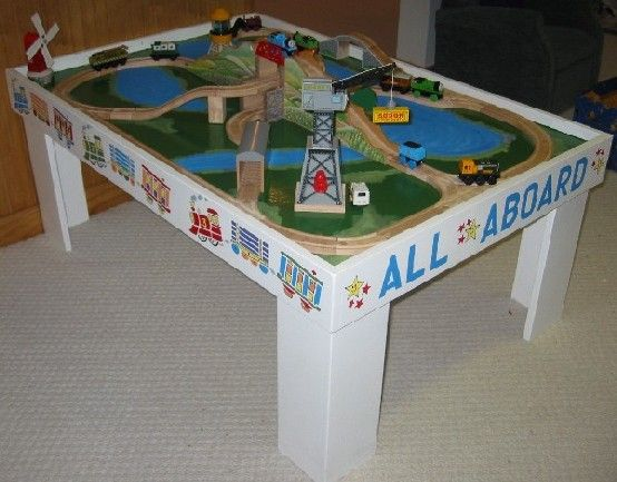 1000+ images about Toy Train Table Plans & Trains 4 Kids on Pinterest