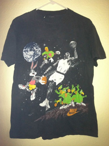Vtg Nike Space Jam Shirt Looney Tunes Michael Jordan