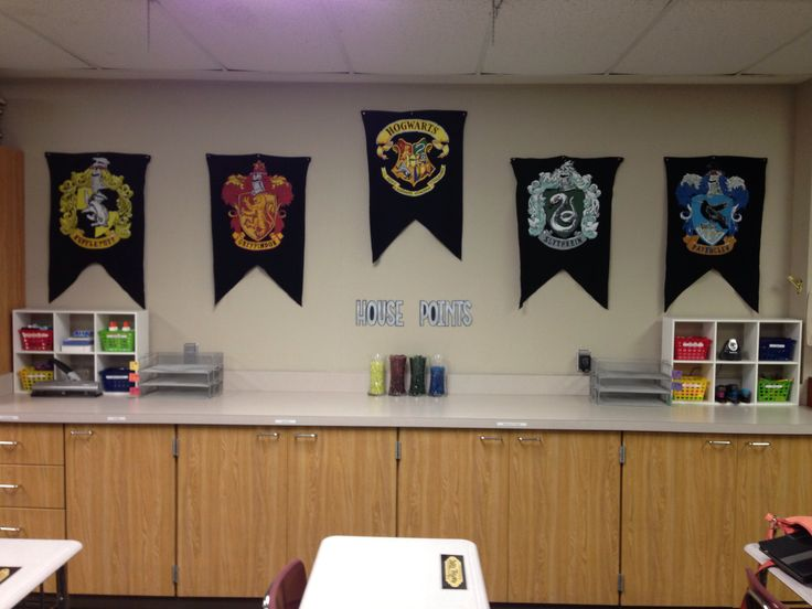 Harry Potter Classroom Decoration Ideas : Harry potter classroom houses the cute