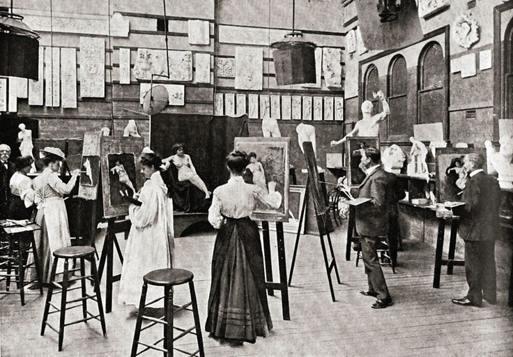 Life Drawing Class, Sydney Technical College, Ultimo 1890