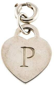 Sterling Silver Letter P with Enamel Pendant