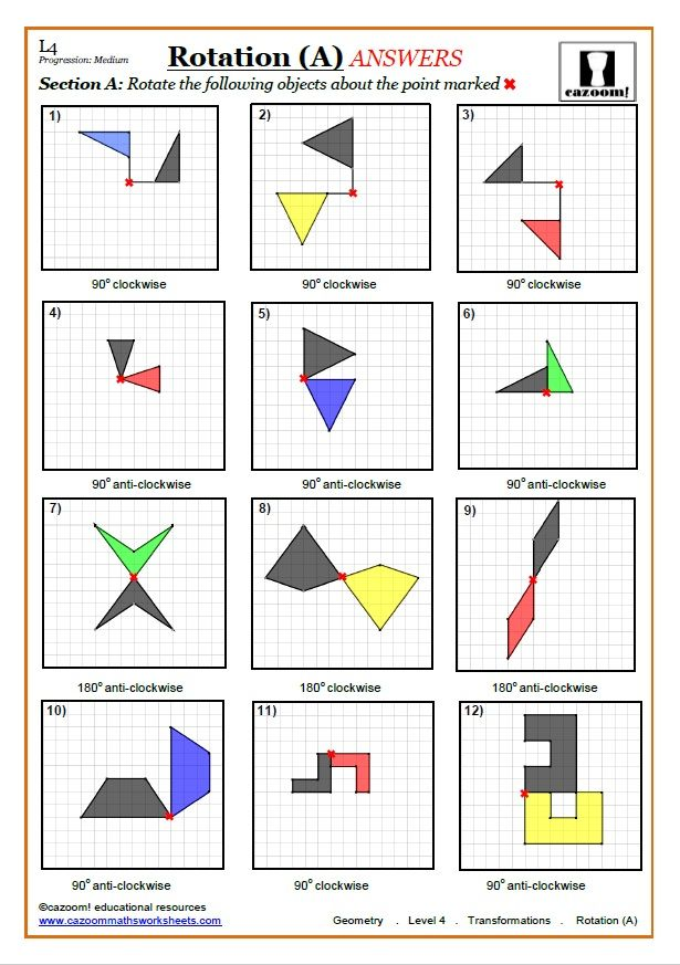 Transformations Worksheets With Answers With Images Math