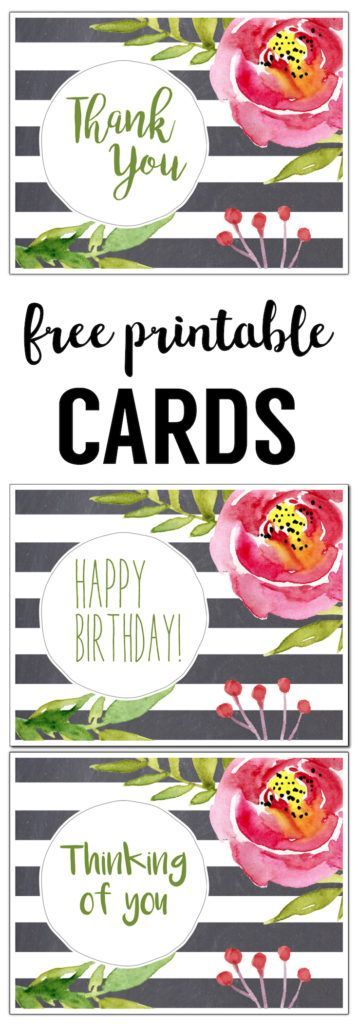 17 best ideas about printable thank you cards on pinterest