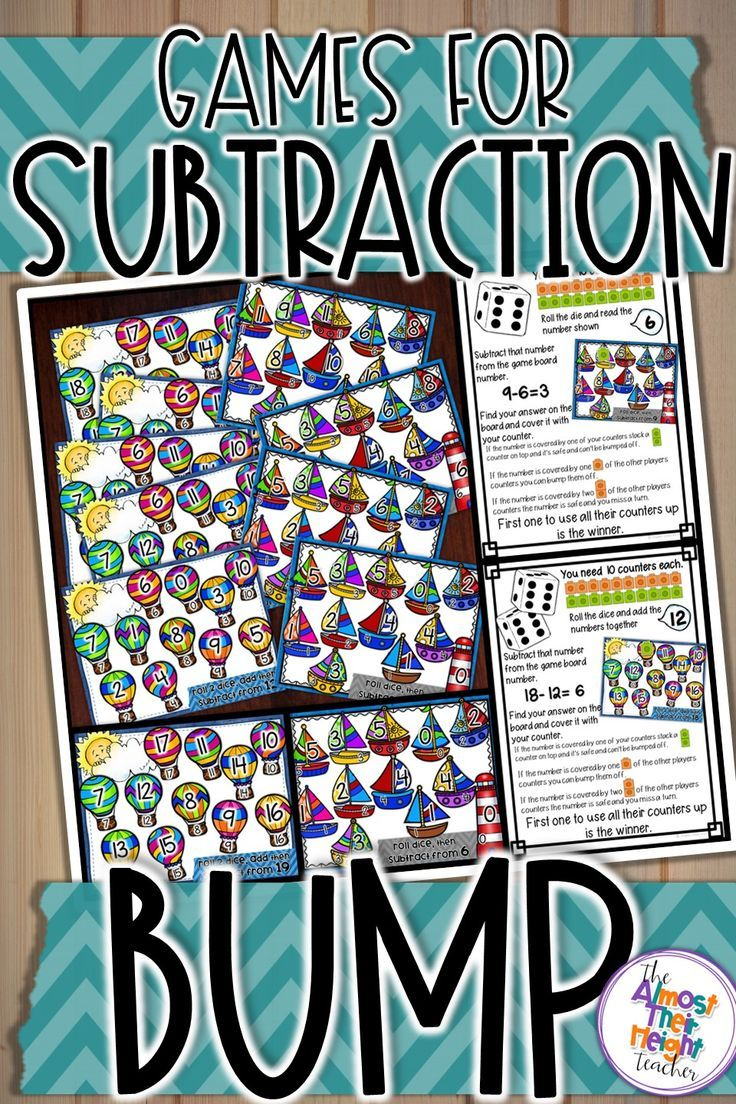 Are you looking a fun way to hook your students into learning and practicing their subtraction facts. That's where bump games come in. Under the guise of playing a game your students are developing their basic maths skills and fluency - a total win-win. This makes these game great as part of a center rotation, whole class, teacher guided activity or as an early finishers option. Subtraction Bump Games -  Subtraction with 1 or 2 dice. Grab a set now.