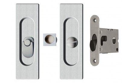 AHI SDK096 Square Privacy Mortise Pocket Door Hardware
