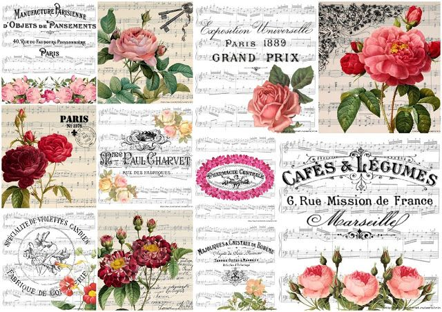 Retro Flowers in Music Sheets.