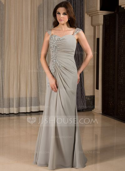 Evening Dresses - $146.99 - Mermaid Sweetheart Floor-Length Chiffon Evening Dress With Ruffle Lace Beading (022027387) http://jjshouse.com/Mermaid-Sweetheart-Floor-Length-Chiffon-Evening-Dress-With-Ruffle-Lace-Beading-022027387-g27387