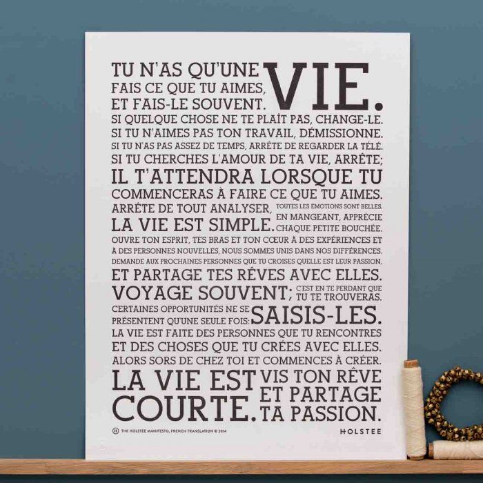 Affiche Manifesto version française