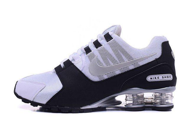 Mens Nike Shox NZ White Black Silver