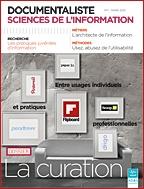 Revue DocSI - Volume 49: n 1/ Mars 2012. Dossier : La curation : entre usages individuels et pratiques professionnelles - #ADBS