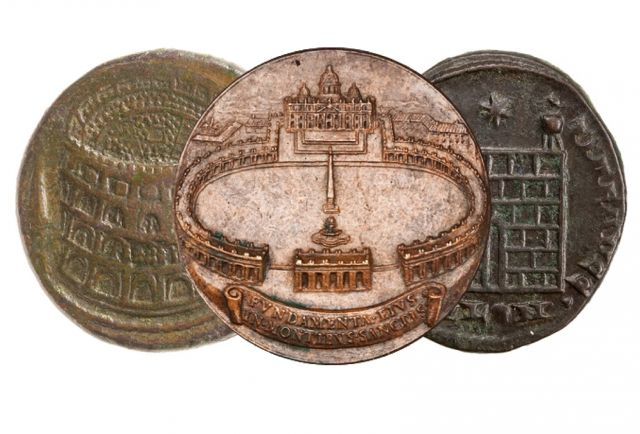 A massive 600,000 object online coinage database from the American Numismatic Society and funded in part by the NEH, as well as a new book on ancient architectural coinage demonstrate that coins provide an abstract view of the people, places, and buildings of the ancient, medieval and modern world.