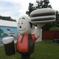 A Fiberglass Statue outside the Spring Valley, MN restaurant