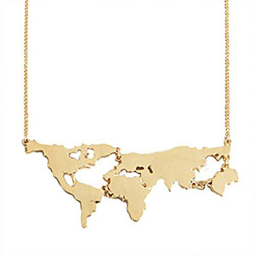 MJARTORIA Filigrane Kette Weltkarte Anhaenger Halskette - Personalisiert mit Ihrem eigenen Land - http://schmuckhaus.online/mjartoria/mjartoria-filigrane-kette-weltkarte-anhaenger