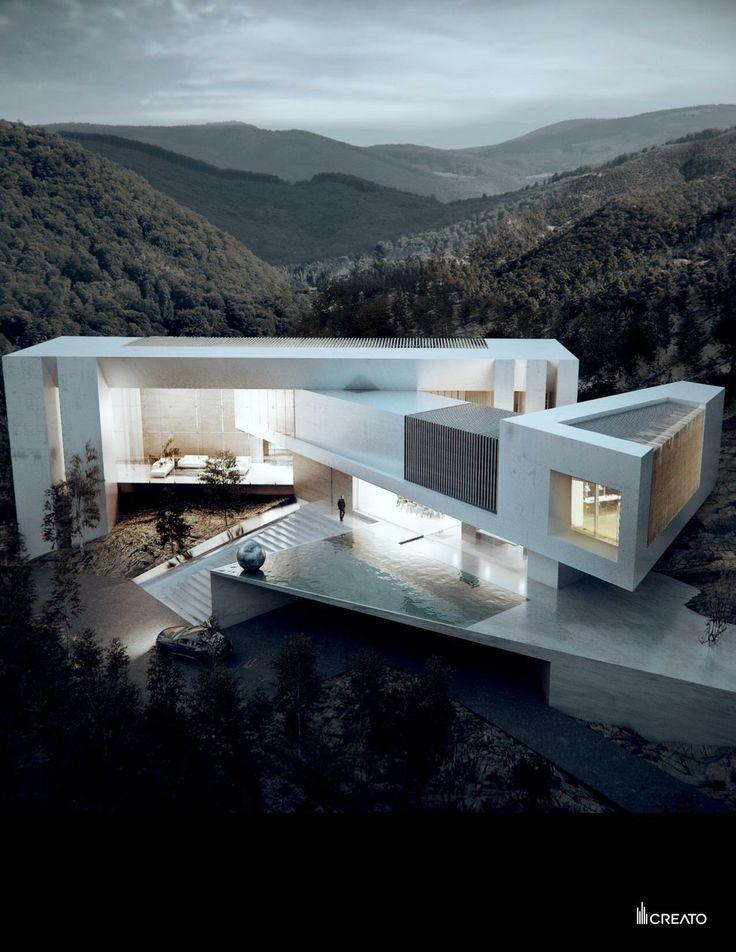 Aqua House main #facade #creato #texas #contemporary #mansion #luxe #architecture