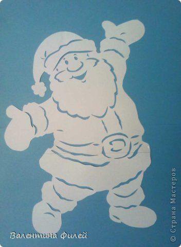 Вытынанка - Дед Мороз
