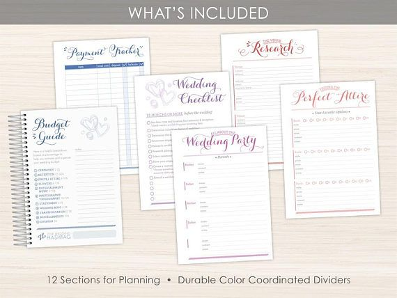 Custom Wedding Planner Organizer Engagement Gift For Bride Bridal Idea