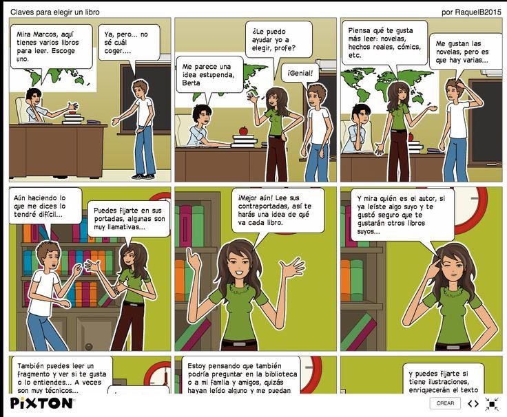"""Tarea 3.3 Tu propio manifiesto """"7 claves para refinar la mirada"""". Raquel Borge Toledano ha preparado y publicado en su blog Aprende Economía y Comercio un manifiesto-cómic para ayudar a sus alumnos a elegir lecturas.  :-)"""