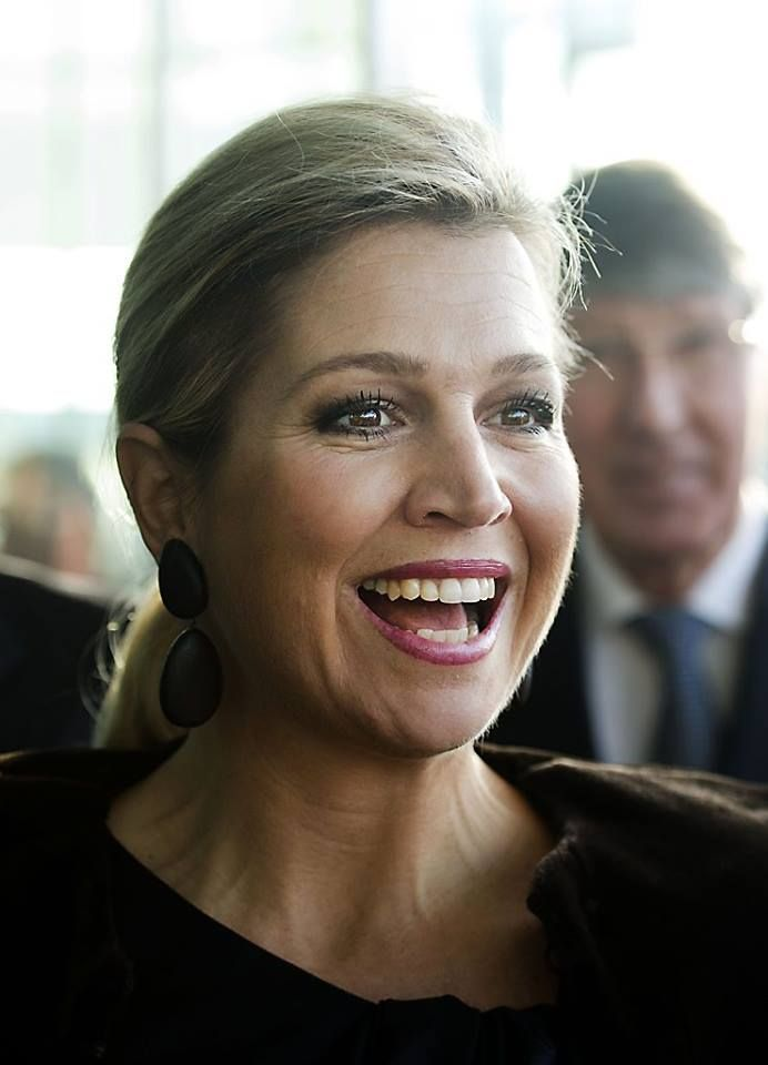 Today 31 of January, Queen Maxima at the headquarters of Rabobank for the jubilee symposium of Qredits.