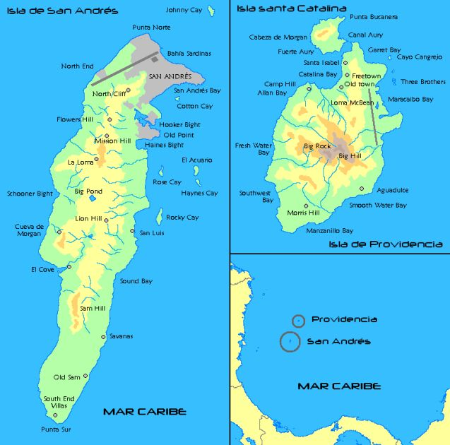 providencia and san andres islands map - Google Search