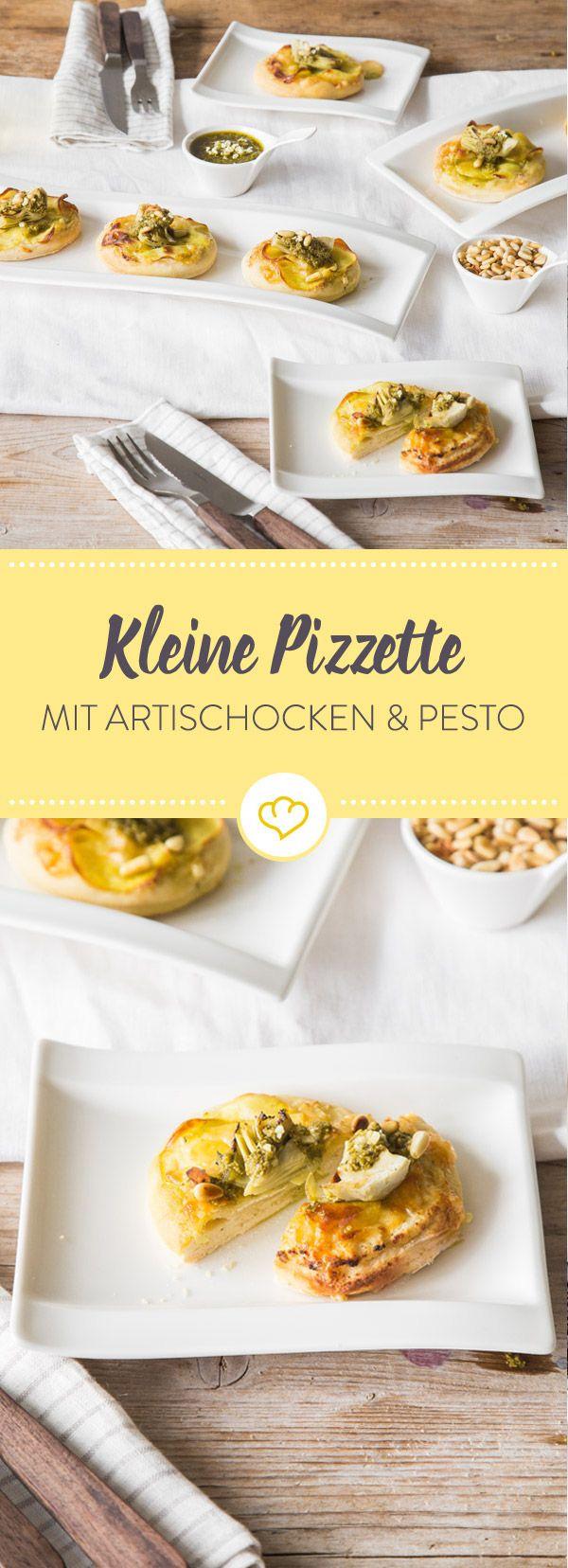 Krosser Teig als Basis, schmelzenden Bergkäse und zarte Artischockenherzen on top und deine krossen Pizzette sind in aller Munde.