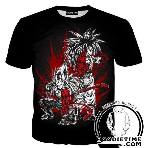 Super Saiyan 4 Goku and Vegeta Hoodie - Dragon Ball Z Hoodies Full Printed Clothing