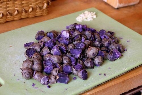 Purple Peruvian Potato Hash